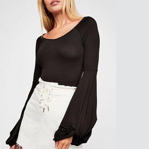 NWT Free People To The Tropics Black Top